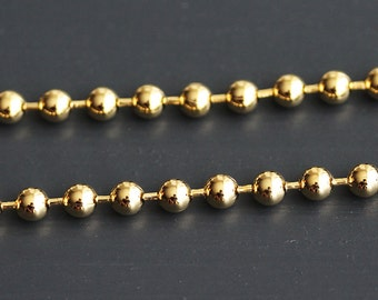 B5-45-G] Gold plated / 4.5mm / Ball Chain / 1 meter