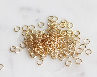 S4-257-G] 2.5mm x 22 gauge / Gold plated / Jumpring / 10g