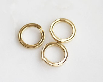 S4-136-2-G] 8mm / Gold plated / Flat Round Jumping / 10 piece(s)
