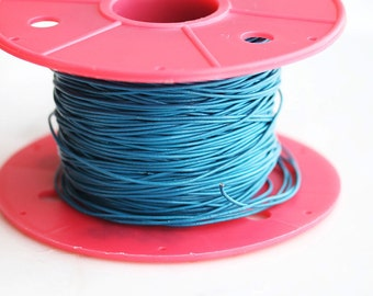 T9-275-BL] Blue / 1mm / Leather / Jewelry String Cord / 3 meter(s)