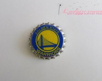 Warriors Bottle Cap Pins