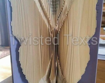 Butterfly book folding pattern, insect, wings, large, butterfly, mmf