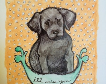 Custom watercolor painting of your precious puppy