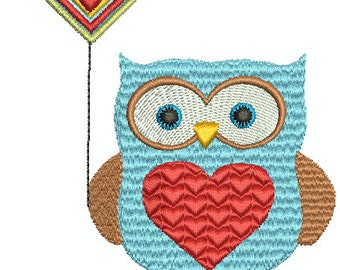 "Owl always love you"" Digital Embroidery Design"