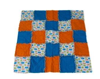 baby boy quilt, rag quilt, baby shower gift, baby rag quilt, toddler rag quilt, modern baby quilt, crib quilt, blue quilt, baby boy gift