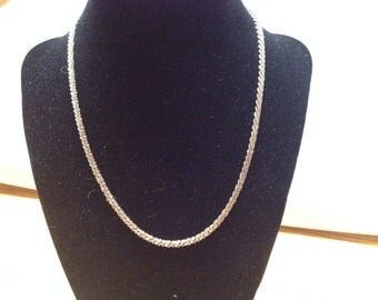 Vintage 925 Sterling Silver ITALY Necklace, Length 18''
