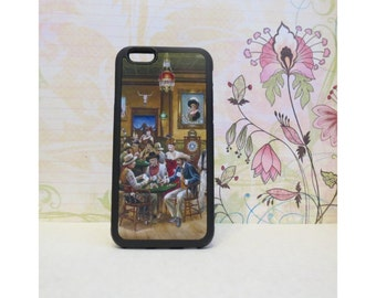 Cowboy Saloon - Case for iPhone 6/6S Rubber TPU