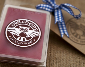 Owlchemy blended beeswax mulled wine wax melts
