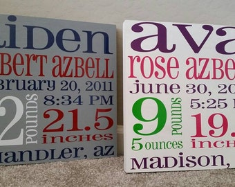 Birth Keepsake Sign