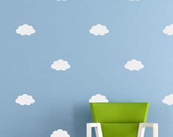 Cloud Wall Decal Sticker set for nursery boy girl room bedroom wall art decoration - REMOVABLE 1043