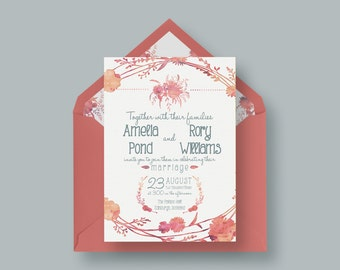 Watercolour Wedding Invitation Design 2.0