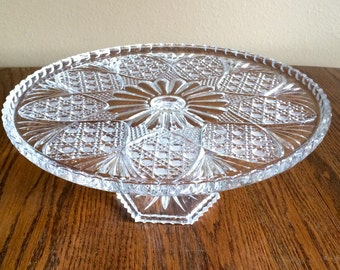 Crystal Cake Stand Etsy