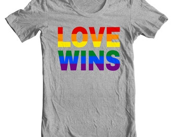 Gay Pride Shirt - Love Not Hate - #LOVEWINS - Marriage Equality Gay Pride Love Wins T-shirt