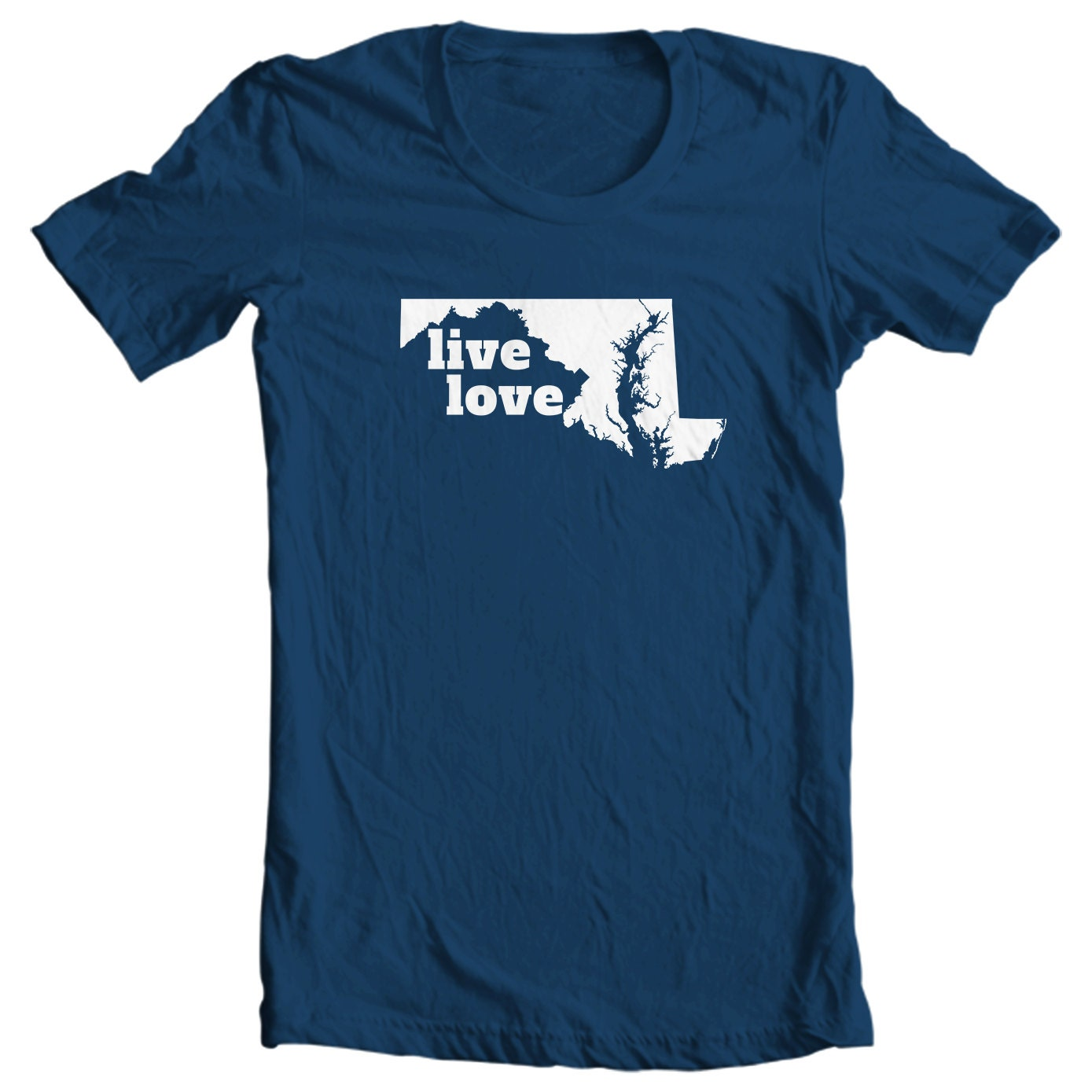 Maryland T-shirt - Live Love Maryland - My State Maryland T-shirt