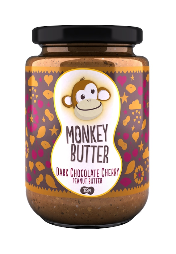 Dark Chocolate Cherry Peanut Butter by MonkeyButterPB on Etsy