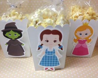 Wizard of Oz Party Popcorn or Favor Boxes - Set of 10