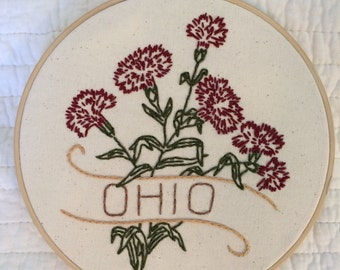 Ohio - Scarlet Carnation 8'' Hoop