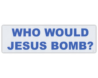 Jesus Bumper Sticker Etsy