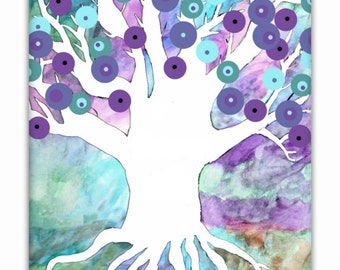 Tree Art Print, Abstract Tree Art, Printable Art, Instant Download, Watercolor Tree, Tree Decor