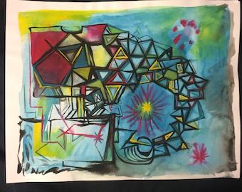 Original gouache painting - contemporary art