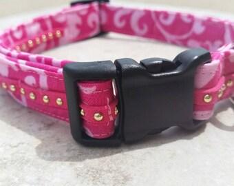Bright Pink Studded Collar