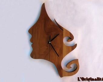 Wall clock walnut