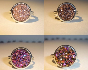 4 Styles of Druzy Rings (Set 3 of 3)