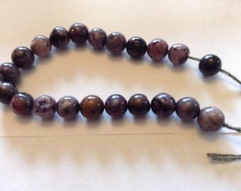 10mm Charoite beads
