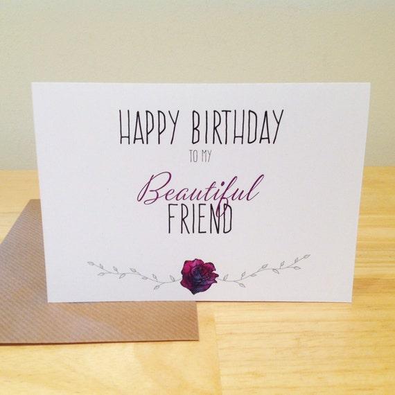 Happy Birthday To My Beautiful Friend Card By