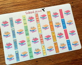 H012 - Books & Reading Planner Stickers | Perfect for Your Erin Condren Life Planner