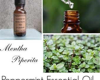 Peppermint Essential Oil, Peppermint Oil, Mentha Piperita  (3x distilled) Highest Quality Available, 100% Pure Authentic Peppermint EO