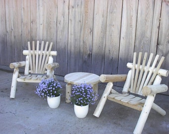 Cedar Log Lawn Chair Amish Made