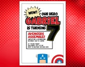 Superhero (Captain America) Birthday Invitation for the Little Hero in Your Life!