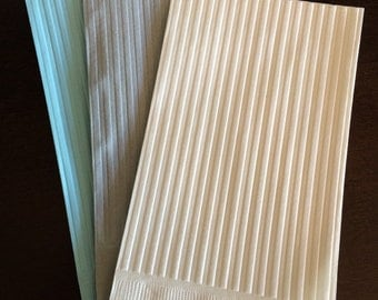 Guest Towel Napkins - Paper Dinner Napkins - Wedding Napkins - Embossed - Paper Napkins - Stripe - Beverage Napkin - Napkins - Party Napkins