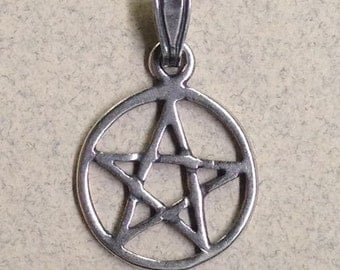Sterling Silver Small Pentagram P-20