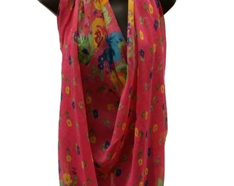 SensationWear Print Challis Scarf Multi Use for Dress, Top, or Skirt