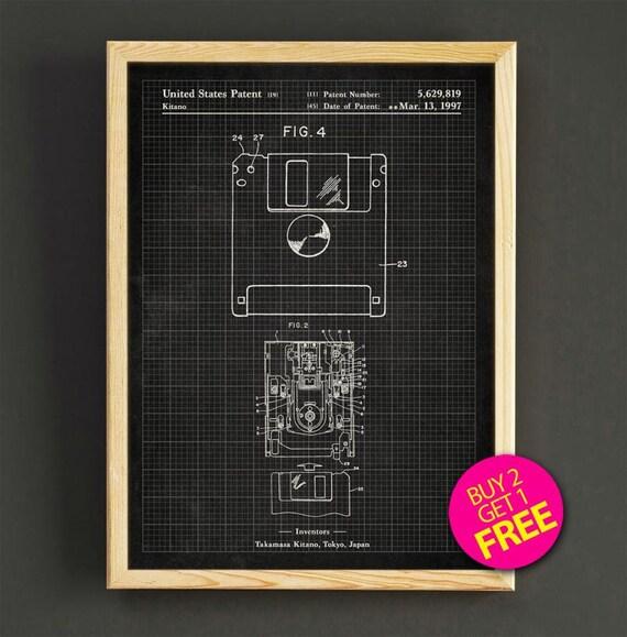 Floppy disk patent art print computer floppy disk blueprint like this item malvernweather Choice Image