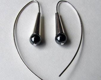 Dew Drop Earrings - Hematite