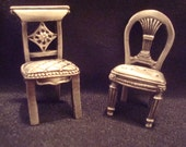 Pewter Miniature Chairs for Place card holders or display   ***REDUCED***