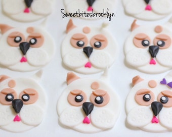 Bulldog cupcakes or cookies topper/pet birthday/dog treat