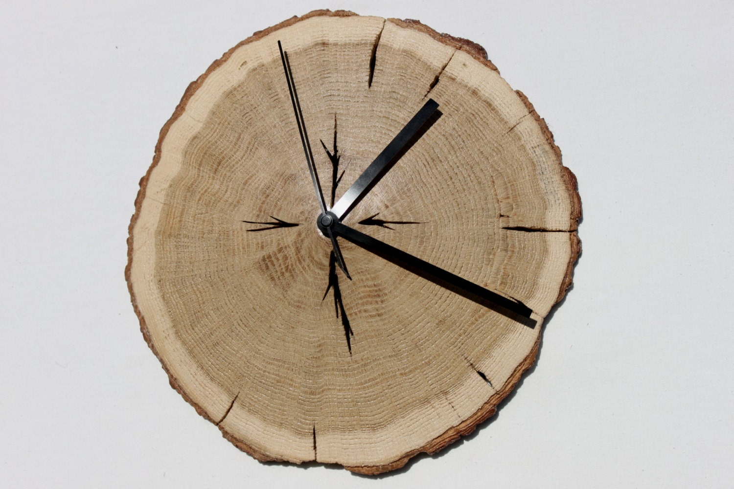 Door Wreaths Live Edge Wood Oak Wooden Slices Wall Clock Wood Wall Clock