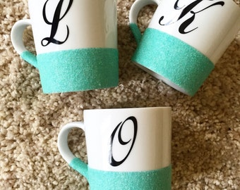 Glitter Dipped Espresso Mug or Children's Mug