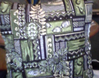 Hawaiian Tribal Cushion In Different Shades Of Green