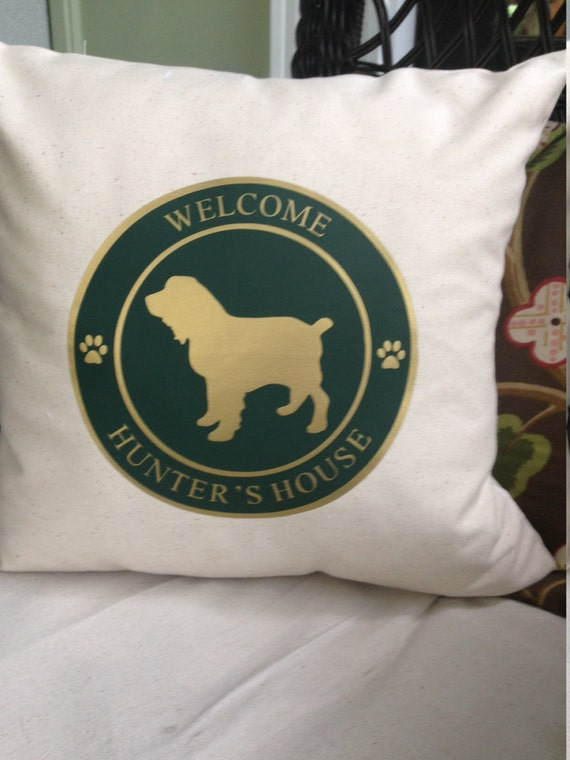 Personalized Dog Breed Throw Pillow by palmettopillows on Etsy