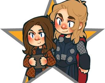 STICKERS STARS: Jane & Thor