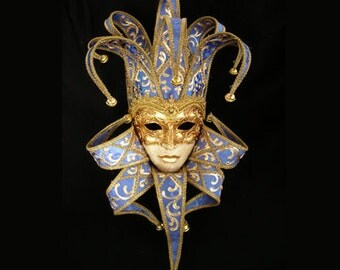Jester Mask with Collar - Full Face Venetian Mask F21