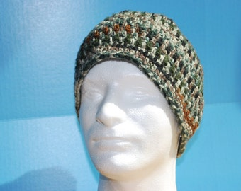 Crochet Men's Camouflage Beanie
