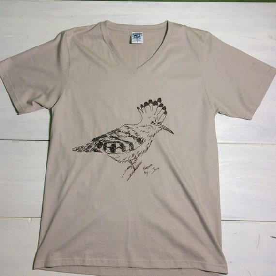 Bird Hand Embroidered T-shirt By Happynaturecraft On Etsy
