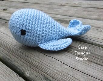 Crochet Whale Amigurumi Plush Blue Whale