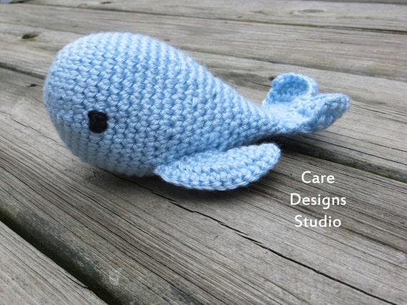Crochet Amigurumi Blue Whale : Crochet Whale Amigurumi Plush Blue Whale